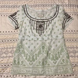 VINTAGE Beaded Paisley Tunic